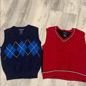 3T boys sweater vests